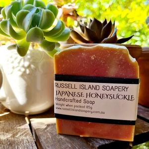 NEW Natural Handcrafted Japanese Honeysuckle Soap 85g Made in Australia